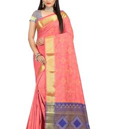 Buy light_pink woven patola saree with blouse patola-sari online