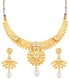 Buy Sukkhi Classy Gold Plated Necklace Set for women necklace-set online