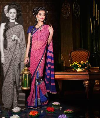 Amazing Indian Georgette Sari
