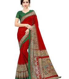 Buy Multicolor printed manipuri silk saree with blouse kalamkari-saree online