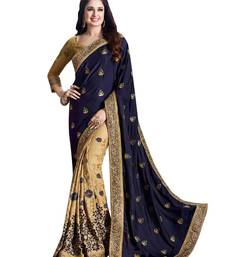 Buy Multicolor embroidered chiffon saree with blouse bollywood-saree online