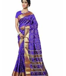 Buy Blue woven patola saree with blouse patola-saris online