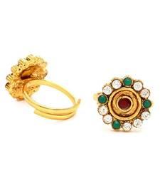 Buy Elegant Gold Plated Australian Diamond Stone Studded Toering Other online
