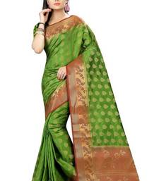 Buy Light green printed nylon saree with blouse other-saree online