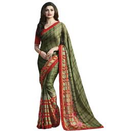 Buy Green printed Silk saree with blouse printed-saree online
