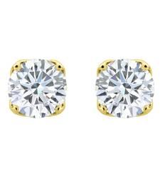 Buy Silver Dew Pure 925 Sterling Silver CZ Diamond Solitaire Earring For Women's cubic-zirconia-cz-earring online