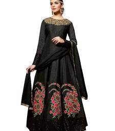 Buy Black embroidered silk salwar wedding-salwar-kameez online