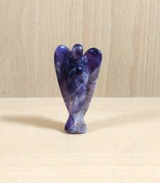 Buy Amethyst Gem Angel Size - 3 Inch Natural Gem Chakra  Aura Cleansing healing-stone online