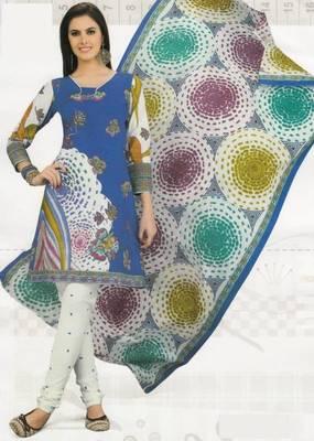 Cotton Dress Material Elegant Designer Unstitched Suit D.No 2120