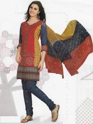 Cotton Dress Material Elegant Designer Unstitched Suit D.No 2130