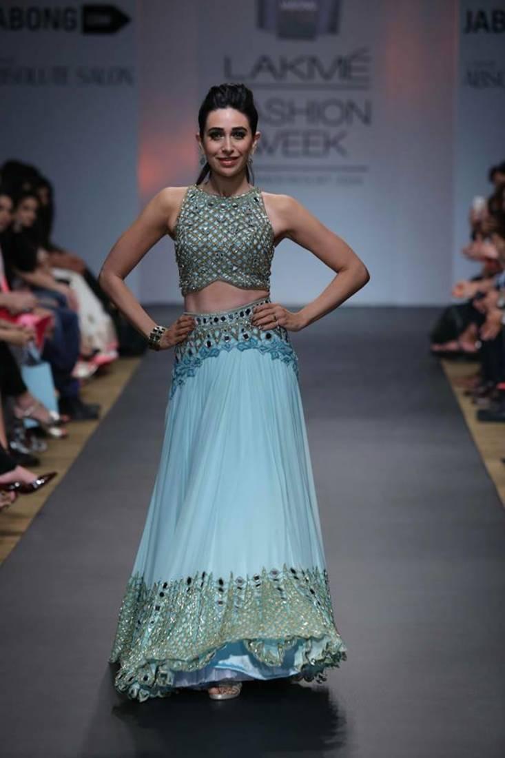 Buy Cyan color zari and thread work Georgette fabric bollywood ...