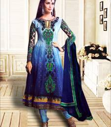 Buy Multicolor embroidered georgette salwar anarkali-salwar-kameez online
