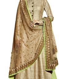 Buy Beige  Diamond Stone Work Straight Suit Salwar Kameez salwar-kameez online