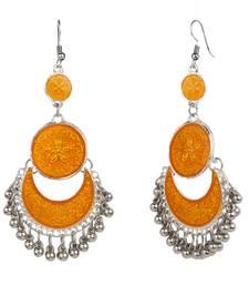 Buy Orange crystal danglers-drops danglers-drop online