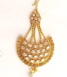 Buy Gold crystal maang-tikka maang-tikka online