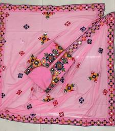 Buy Light-pink aari chanderi salwar chanderi-silk-salwar-suit online