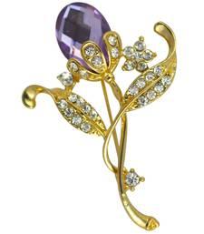 Buy Purple cubic zirconia brooch brooch online