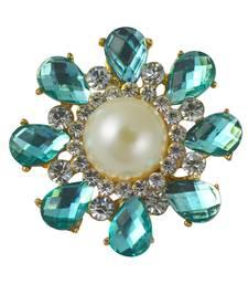 Buy Blue cubic zirconia brooch brooch online