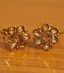 Buy Polki Gold Look Adjustable Toe Rings Ring online