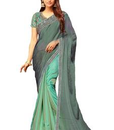 Buy Multicolor embroidered silk saree with blouse bridal-saree online