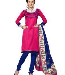 Buy Pink  bhagalpuri silk salwar salwar-kameez-below-1000 online