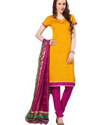Buy Yellow  bhagalpuri silk salwar salwar-kameez-below-1000 online