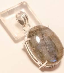 "Buy Shiny labradorite gemstone 925 silver jewelry pendant 1.79"" gemstone-pendant online"