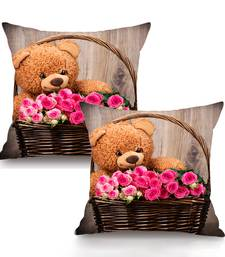 Buy Teddy Digital Printing Cushion Cover  (16 x 16 Inch) pillow-cover online