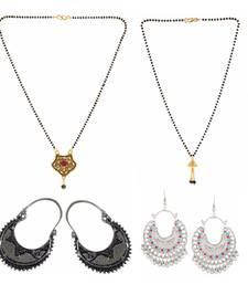 Buy Efulgenz Jewelry Combo of Ethnic Gold Plated Mangalsutra and Dangler Earrings for Women jewellery-combo online