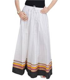 Buy White Pure Cotton skirts skirt online