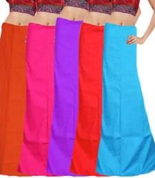 Buy Multicolor cotton plain cotton combo petticoat petticoat online