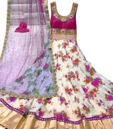 Buy Pink Banglori Satin Silk Long Anarkali Suit anarkali-salwar-kameez online