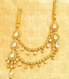 Buy Designer Kundan Double Juda Waist Belt Kamarband Ethnic Wedding Jewelry waist-belt online