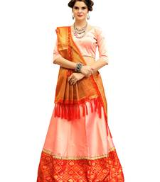 Buy Peach Embroidery Tifi Silk Designer Lehenga Choli With Blouse lehenga-choli online