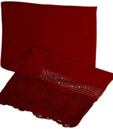 Buy Red cotton Islamic Style Stole Daily Wear Arabian Hijab hijab online