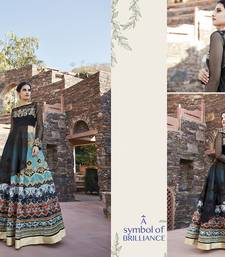 Buy Multi embroidered silk semi stitched salwar with dupatta silk-salwar-kameez online