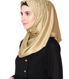 Buy khaki Premium Viscose Islamic Style Look Casual Hijab Arabian Naqab Stole Women Scarf hijab online