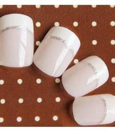 Buy Shimmer 'n sparkle, new fashion light pink short design false nails decoration .decals tips gifts-for-her online
