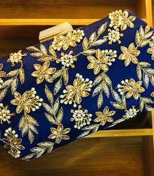 Buy Zardosi Kundan Handwork Box Clutches clutch online