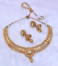 Buy Gold diamond chokers choker online