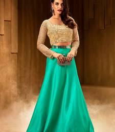 Buy Khwaab Turquoise Silk Embroidered Stitched lehenga choli readymade-lehenga-cholis online
