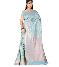 Buy Blue embroidered georgette saree with blouse gift-saree online