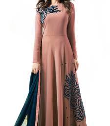 Buy Peach fancy faux georgette salwar festive-salwar-suit online