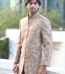 Buy Solar bronze brocade Jodhpuri Sherwani men-festive-wear online