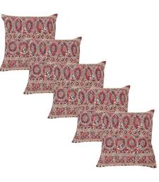 Buy Multicolor Cotton Cotton casual Zari Embroidered Cushion Cover ( 45 x 45 Cm Multi, Pack of - 5 Multi ) cushion-cover online