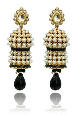 Pearl And Black Chandeliers