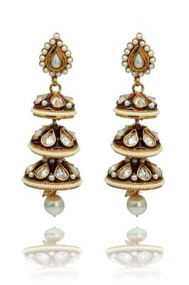 Red Gold Plated three-tier dangler