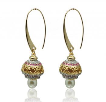 Rudy Gold Rhodium Polish Plated Earrings
