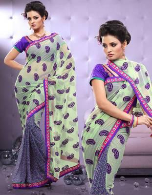 Georgette Printed Sari Ecocity202