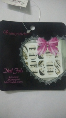 Shimmer 'n sparkle, new fashion metallic shining nail art sticker, french style nail art decoration